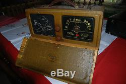 Zenith Portable Radio Model #6B03 with B17 Bomber Grill