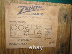 Zenith Radio 6D029 Consoltone 6 tube Gem Restoration. Serious collectors only