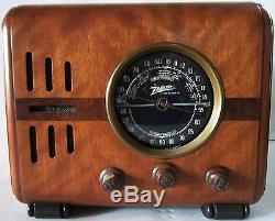 Zenith Radio Model 5R216, Original Wood Deco Tube Cube Radio, Fully Restored