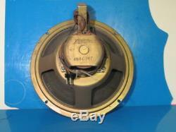 Zenith Radio Speaker, 1939 10'' Speaker For Single Out Put Tube