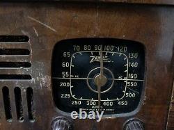 Zenith Rare 6d538 Model Vintage Wooden Radio Working Condition