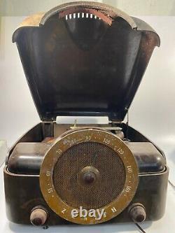 Zenith Record Player Radio COBRA-MATIC H664 VARIABLE SPEED TUBE AMP PARTSREPAIR