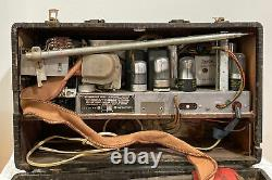 Zenith Short Wave Portable Vacuum Tube Bomber Radio Trans-Ocean Deluxe 7G605