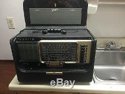 Zenith Trans-Oceanic Model B-600, recapped and with battery pack
