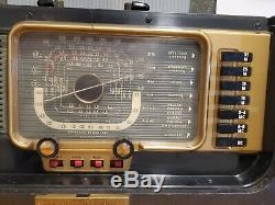 Zenith Trans-Oceanic Radio Model H500 Chassis 5H40 Nice