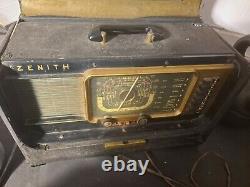 Zenith Trans-Oceanic WAVE MAGNET Shortwave Tube Radio. Uncertain of Condition