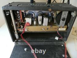 Zenith Trans-Oceanic WAVE MAGNET Shortwave Tube Radio. Works