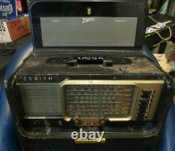 Zenith Trans-Oceanic Wave Magnet AM Shortwave Radio Parts Only R