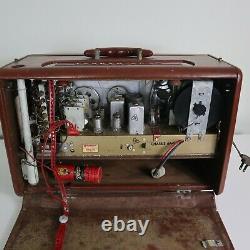Zenith Trans-Oceanic Wave Magnet B600 Shortwave Radio Brown Leather
