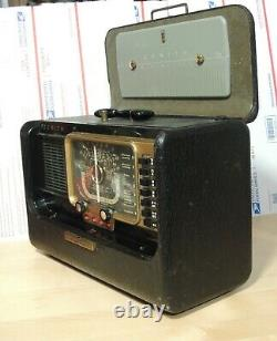 Zenith Trans-Oceanic Wave Magnet H500 Chassis 5H40 Radio Still Works