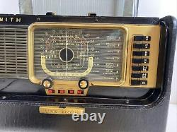 Zenith Trans-Oceanic Wave Magnet H500 Chassis 5H40 Radio Works