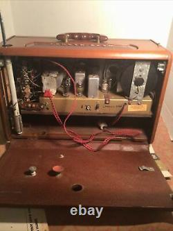 Zenith Trans-Oceanic Wave Magnet T600 Shortwave Radio Works With Instr