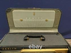 Zenith Trans Oceanic Wavemagnet Vintage Tube Radio Portable 5H40 Chassis 1953