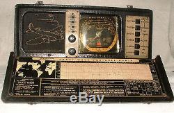 Zenith Transoceanic Clipper Shortwave Portable Radio Model 7G605Bomber Grille