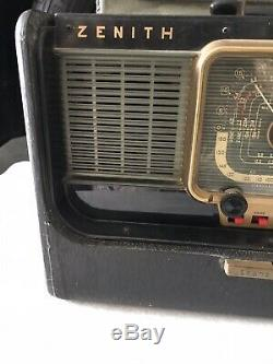 Zenith Transoceanic Tube Radio Model H500 Mid Century Working excellent