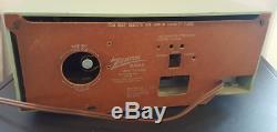 Zenith Vintage Mid Century Tube Clock Radio Long Distance s-41848 Green Working