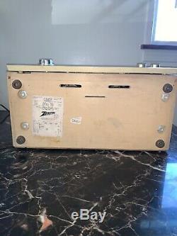 Zenith Vintage S-50684 AM/FM Tube Radio GREAT Blonde Wood Cabinet 50 watt