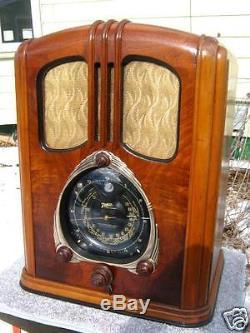 Zenith Walton 9 Tube Table Radio Restored Show Condition Robot Dial 9S232 1937