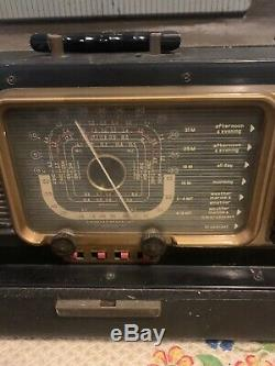 Zenith Wave Magnet Trans-Oceanic Chassis 5H40 ShortWave Radio 1950s Vintage