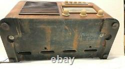 Zenith vintage 1941 radio broadcast & shortwave wood box, Model 6S527 AS IS