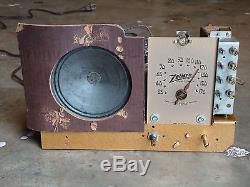 Zenith vintage tube radio 6D312 works great restored electronics Art Deco style